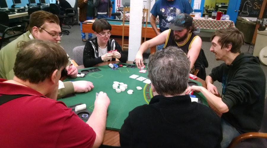 poker night at Spark